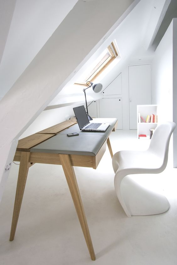 Interior design ideas  beautiful  office space  wood   white   Beautiful  furniture   pantone  chair    Furniture Table   Pinterest   Office spaces. Interior design ideas  beautiful  office space  wood   white