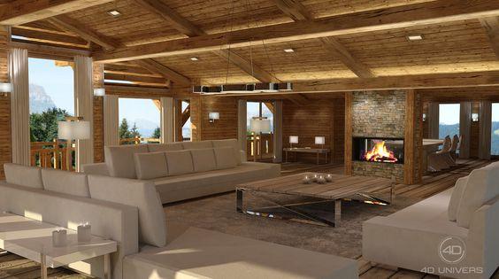 décoration intérieure De Chalet | Architecture & Interior Design ...