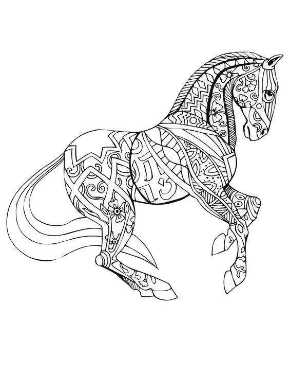 coloring pages for adults horseshoe - photo#9