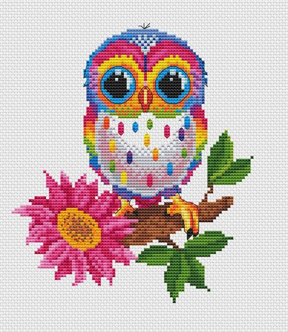 Image result for cross stitch owl
