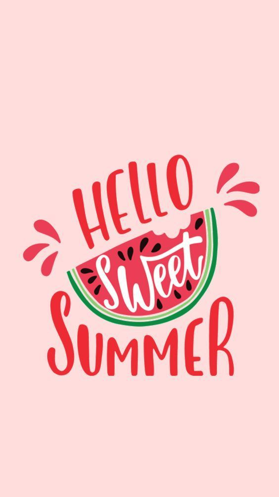 Hello Summer Free Wallpaper Mint Maple Wallpaper Iphone Summer Watermelon Wallpaper Summer Wallpaper