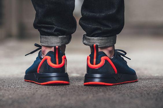 "adidas ZX Flux ADV Asymmetrical ""Collegiate Navy/Solar Red"" - EU Kicks: Sneaker Magazine"