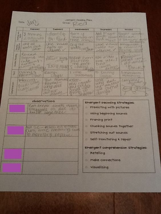 Made In The Shade In 2nd Grade Guided Reading Plans Template - assessment plan template