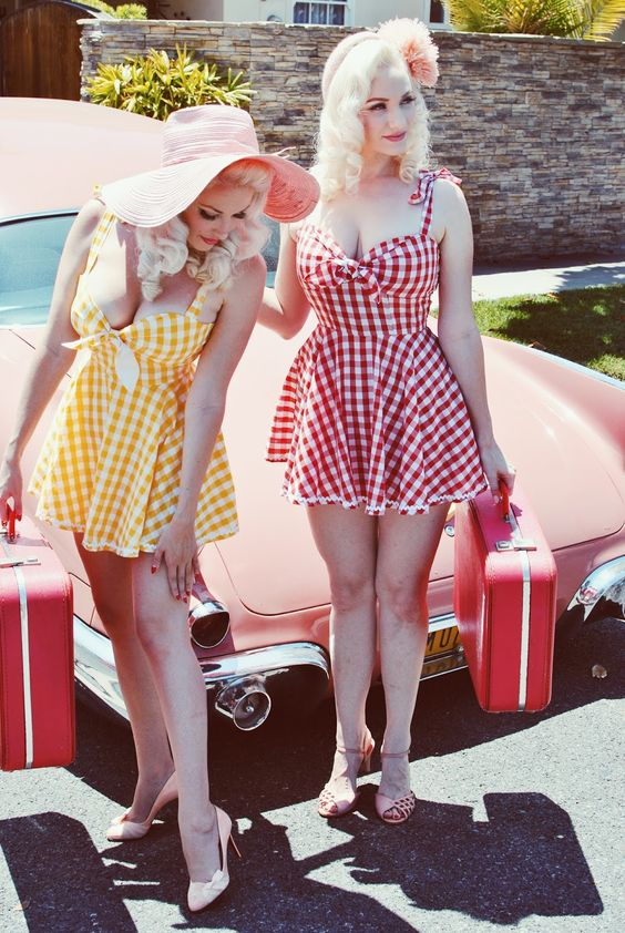 Vintage Blog - The Pink Collar Life: Peachy in Powderpuff   See more at http://www.spikesgirls.com