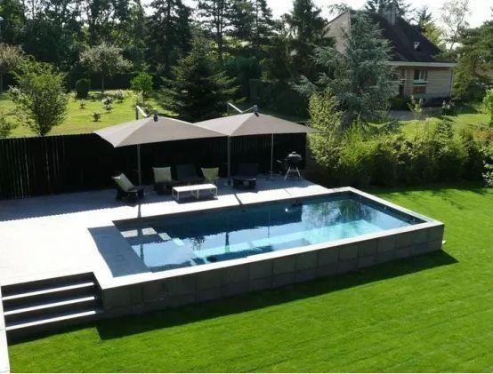 Terrassenerweiterung Terrace Extension Terras Deko Vor Der Haustür Ideen Te 1000 Backyard Pool Swimming Pool Designs Raised Pools