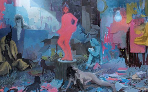 Tilo Baumgärtel  Die Nachtwache, 2011, 250x400cm, Öl auf Leinwand