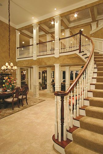 Beautiful staircase in this grand entrance!  #entryways  #staircases  homechanneltv.com