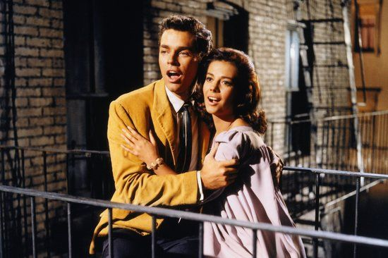 "West Side Story (1961): In a Romeo and Juliet-inspired twist, it's love at first sight between Maria (Natalie Wood) and Tony (Richard Beymer), but they're from rival New York City gangs.  Love-Filled Lines:  Tony: ""I didn't believe hard enough.""  Maria: ""Loving is enough.""  Tony: ""Not here. They won't let us be.""  Maria: ""Then we'll run away.""  Tony: ""Yeah, we can.""  Maria: ""Yes.""  Tony: ""We will . . . ""  Source: MGM"