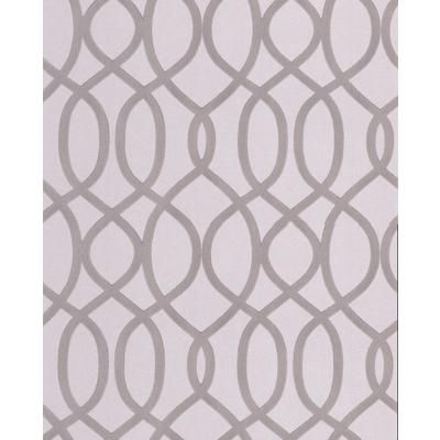 Graham brown knightsbridge flock gray silver wallpaper for Wallpaper home depot canada