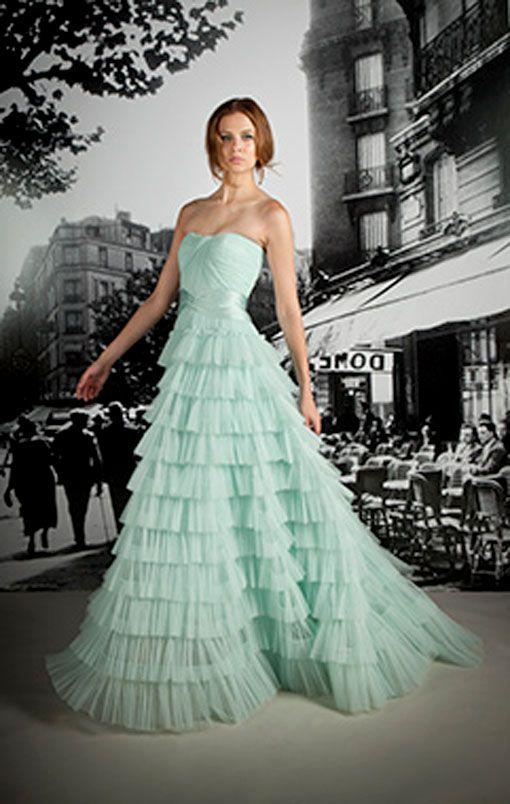 Light mint green wedding dress splash of colour for Mint and gold wedding dress