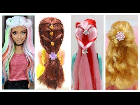Diy Barbie Hair Transformations Barbie Doll Hairstyles Barbie Hairstyle Tutorial For Kids Youtube Barbie Doll Hairstyles Doll Hair Barbie Hairstyle