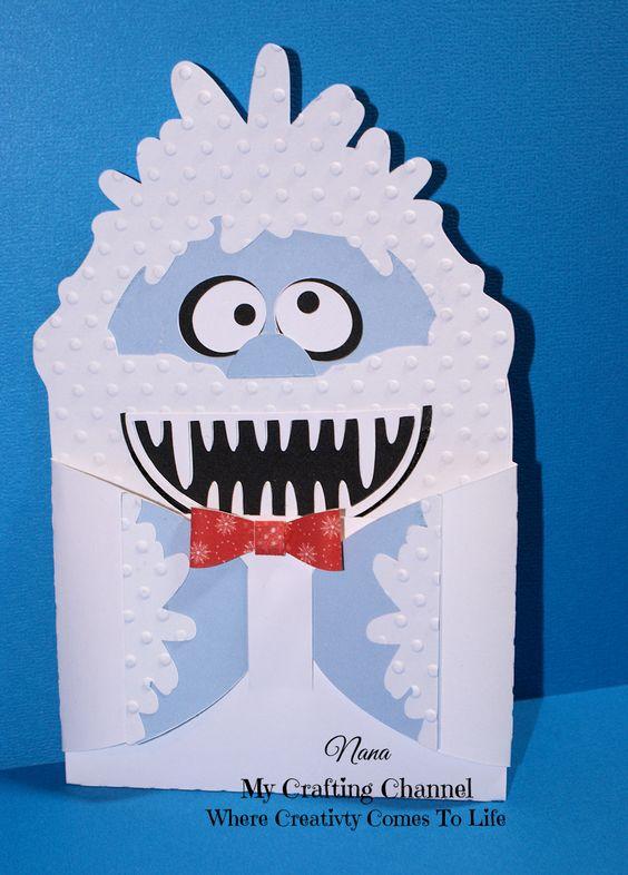My Crafting Channel: Yeti Hug Gift Card Holder