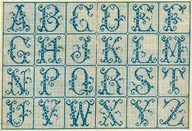 Resultado de imagem para alfabeto bordado em ponto haste