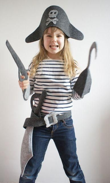 A DIY Felt Pirate Costume For Kids                                                                                                                                                                                 More: