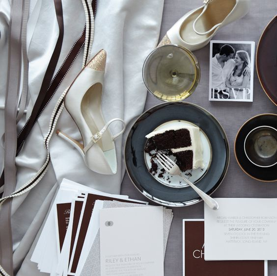 Custom Photo Invitations & chocolate cake