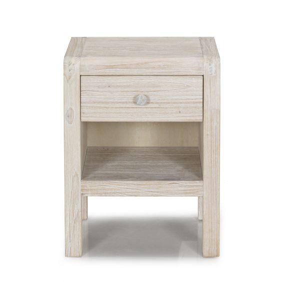 Chevet à 1 tiroir Blanchi - Toledo - Les tables de chevet - Chambre - Décoration d'intérieur - Alinéa