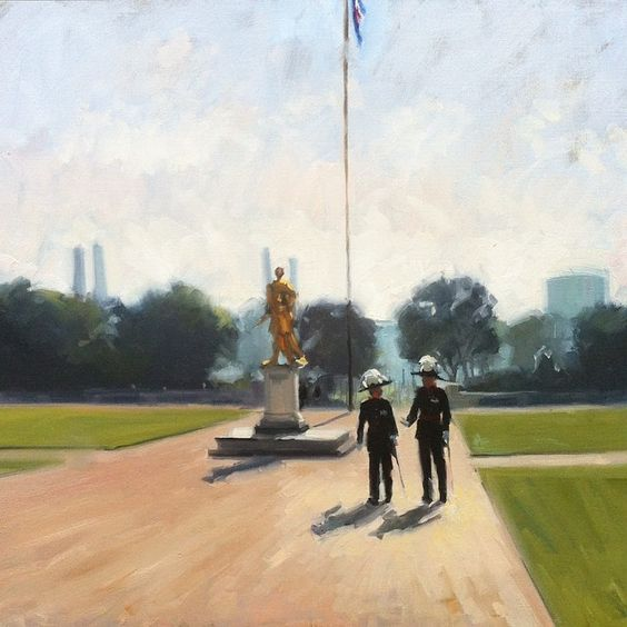 Oil Painting done at the Royal Hospital Chelsea, London. Artist: Charlotte Partridge.
