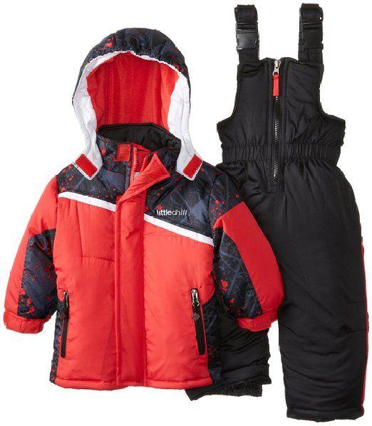 Big Chill Baby-Boys Infant Splatter Paint Snowsuit, Red, 24 Months