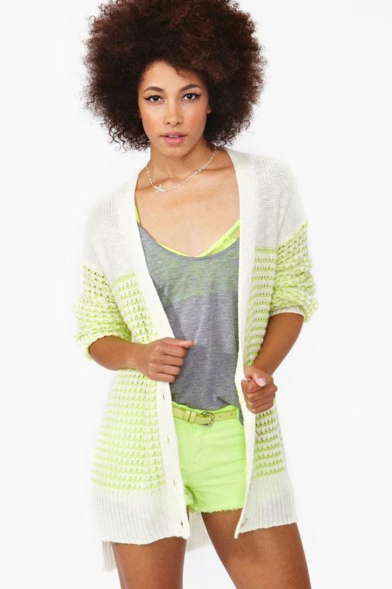 Neon Knit Cardi