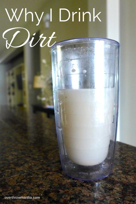 Drinking clay water is good for your health! Learn more about a Bentonite Clay #Detox at earthsnaturalclay.com