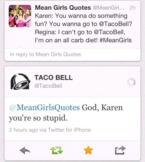 """Taco Bell's Twitter account: 