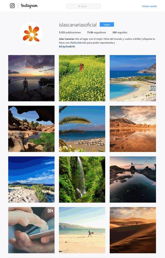 Islas Canarias perfil Instagram