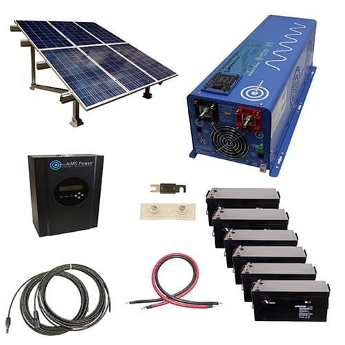 1440 Watt Off Grid Solar Kit With 6000 Watt Power Inverter Charger 120 240vac 24 Volt And Ground Mount Solar Rack Solar Kit Solar Panels Solar