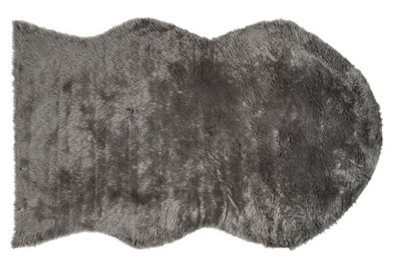 Faux Sheepskin, Gray