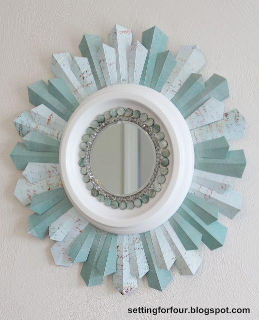 Setting for Four: DIY Beaded Sunburst Mirror