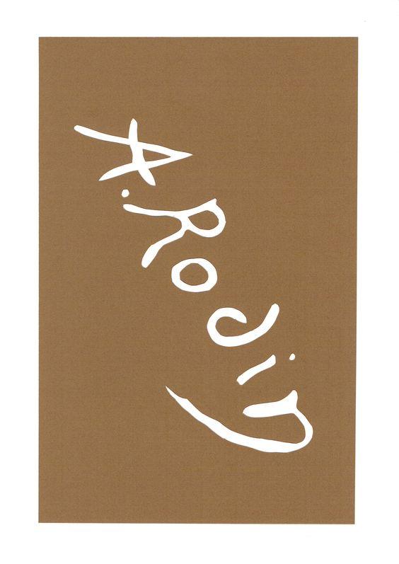 signature de Rodin
