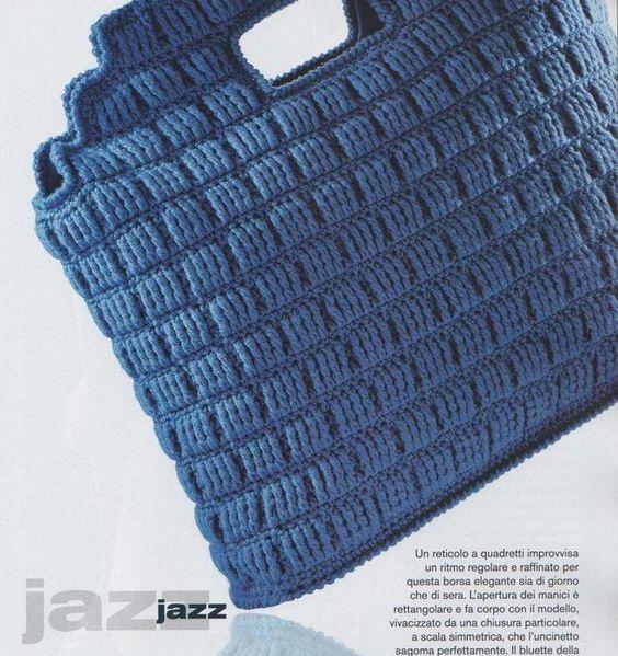 crochet bag - italian written pattern
