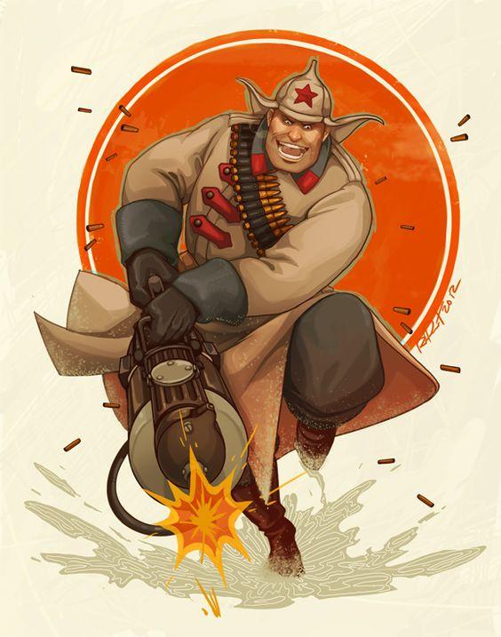 Les personnages de Team Fortress 2 version Old school