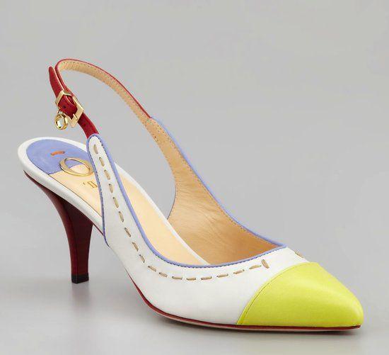 Lovely O Jour cap-toe kitten heels. #shoes