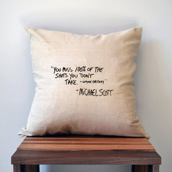 The Office Pillow Cover Michael Scott Quote by slushieprints