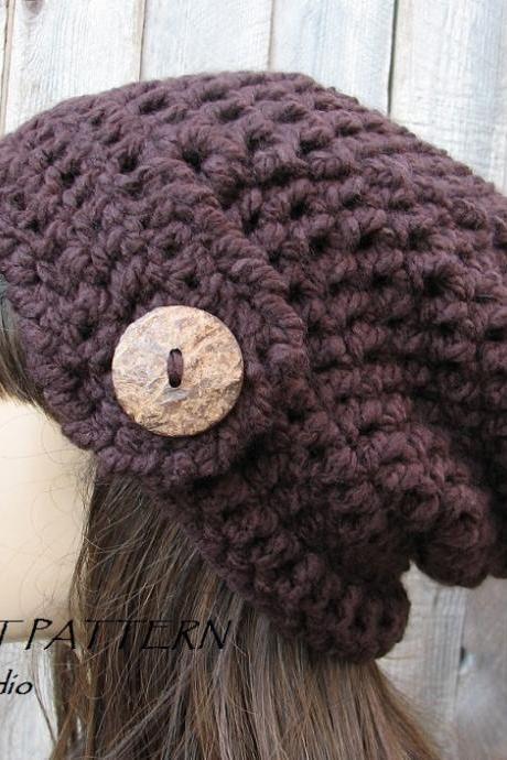 CROCHET PATTERN!!! Crochet Hat - Slouchy Hat, Crochet Pattern PDF,Easy, Great for Beginners, Pattern No. 74