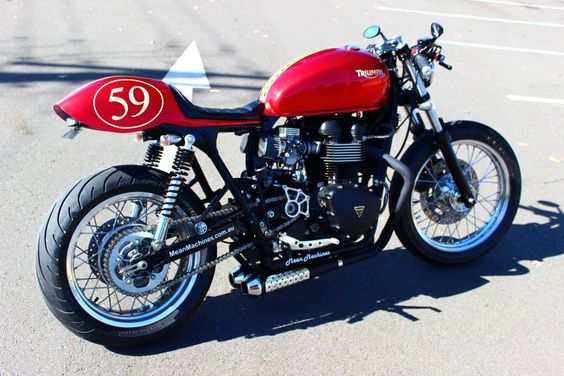 "This morning's meeting with the editor...""Jiminy f*cking xmas, I want to ride this thing."" #triumph #meanmachine"