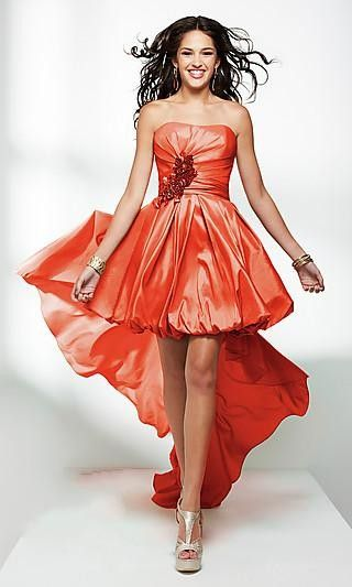 Flowing Dress  high low dress  flowing sash