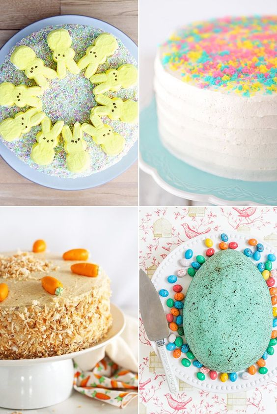 Easter cakes perfect for your Sunday celebration.