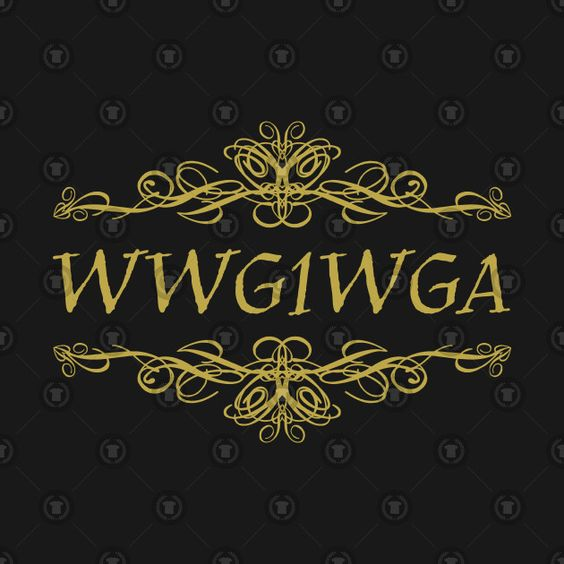 Check out this awesome 'Gold+Ornate+WWG1WGA+QANON' design on @TeePublic!