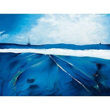 ''Incandescent Seascape'' by Candice Tait Kunst Graphics Art Print