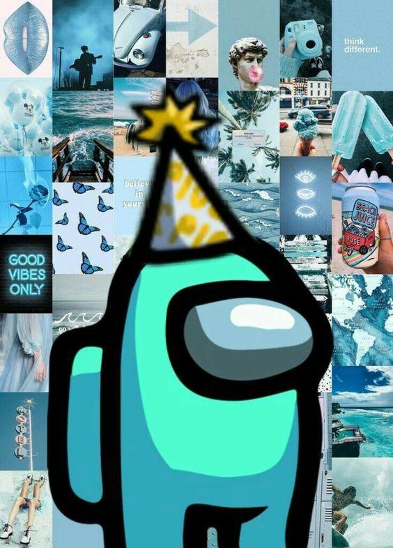 Cyan Teal Crewmember Among Us Wallpaper Cool Backgrounds Wallpapers Iphone Background Wallpaper Wallpaper Iphone Cute