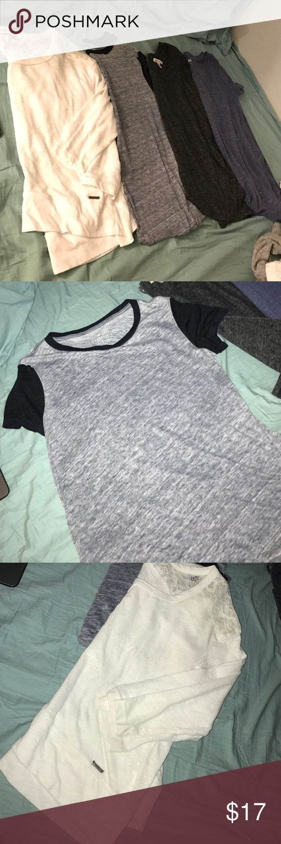 Shirt bundle All fit xs, Abercrombie and American eagle brands. All in great condition! Open for reasonable offers! American Eagle Outfitters Tops