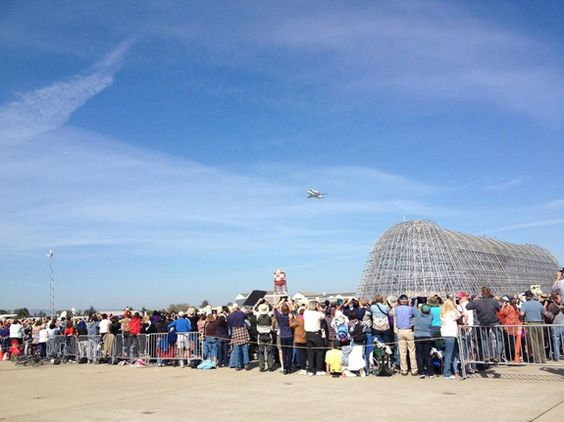 Endeavour with NASA Ames Spectators