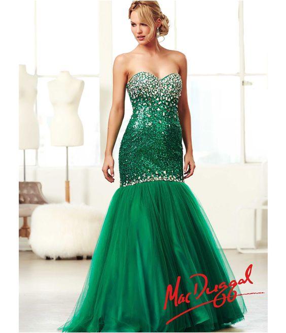 mac duggal 2014 prom dresses emerald green amp rhinestone