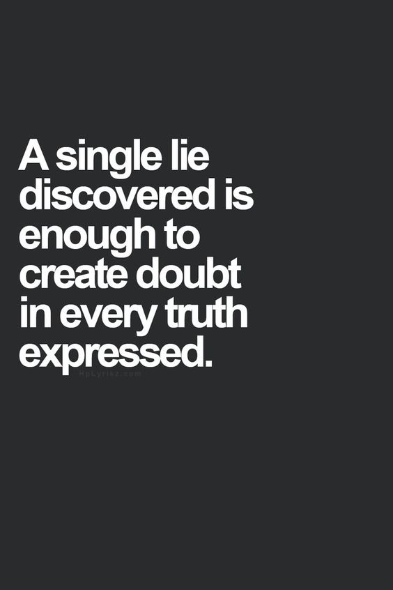 hm...the truth in lies