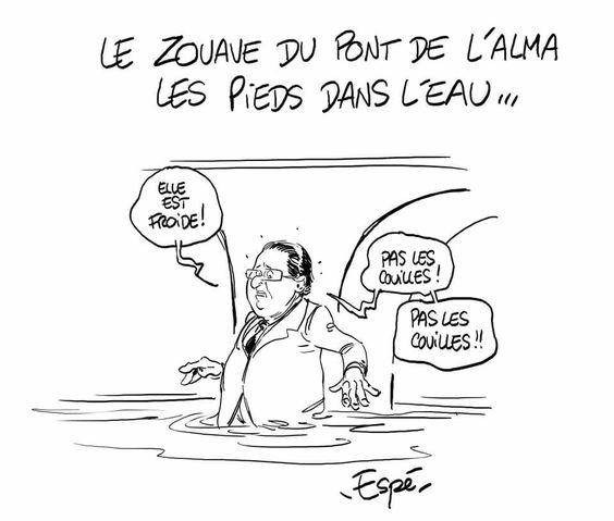 Espé (2016-06-02) France: Paris innondations / Hollande
