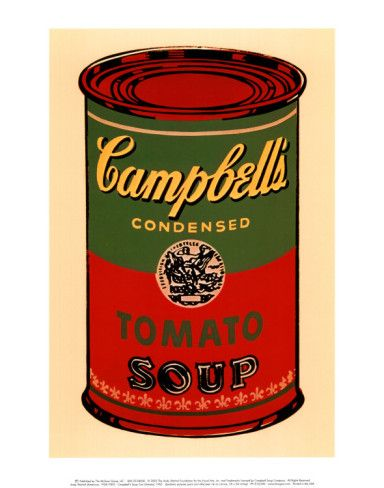 Campbell's Soup Can by Andy Warhol--#3 in my Warhol kitchen.