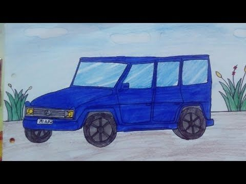 رسم سيارة زرقاء أنيقة للأطفال والمبتدئين Car Drawing For Kids And Beginners Youtube In 2020 Drawing For Kids Beginner Art Car Drawings