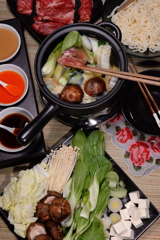 Japanese Shabu-shabu is a really fun way to enjoy a meal.  Shabu-shabu literally means swish-swish, the sound the food makes as you move it through the broth with your chopsticks.  A broth is made and brought to the table and placed on a burner so that a very thinly sliced beef, lamb or pork, ...