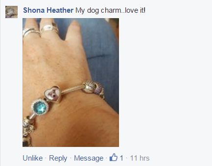 Put your pet's photo in a charm.